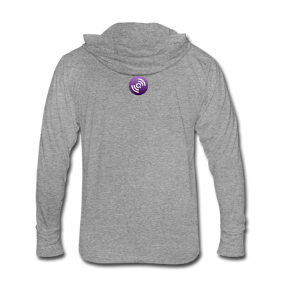 QLC Chain Unisex Tri-Blend Hooded Shirt - heather gray