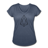 EOS Women's Tri-Blend V-Neck T-Shirt - Sticky Crypto