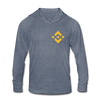 Binance Unisex Tri-Blend Hoodie Shirt - heather blue
