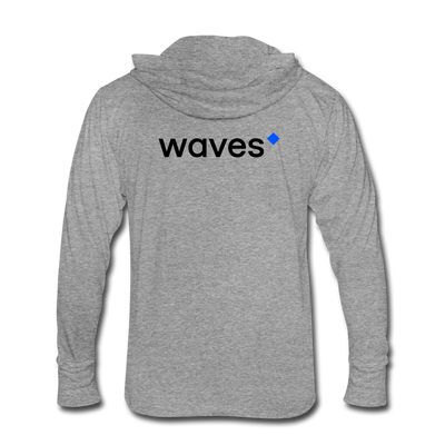 Waves Unisex Tri-Blend Hooded Shirt - heather gray