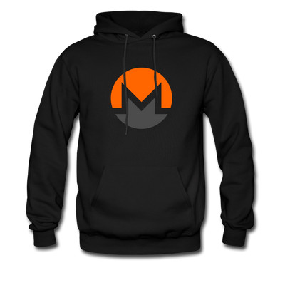 Monero Premium Hooded Pull-Over - black