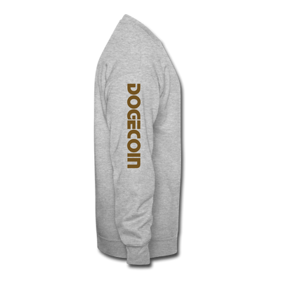 Dogecoin Crewneck Sweatshirt - heather gray