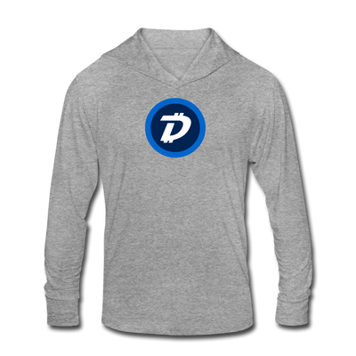 Digibyte Unisex Tri-Blend Hooded Shirt - heather gray