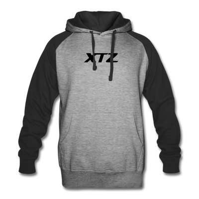 Tezos Colorblock Hooded Sweater - heather gray/black