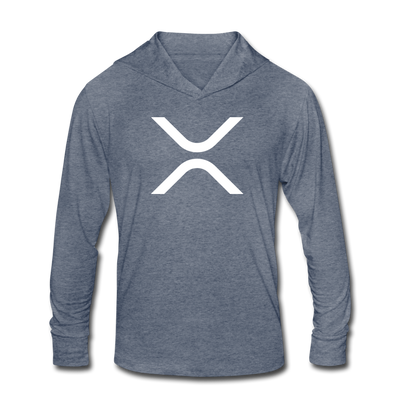XRP Unisex Tri-Blend Hoodie Shirt - heather blue
