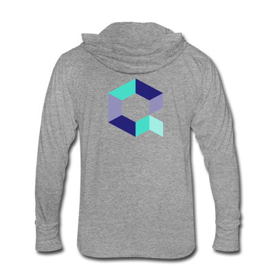 Quant Unisex Tri-Blend Hooded Shirt - heather gray