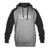 Qtum Colorblock Hooded Pull-Over Sweater - heather gray/black