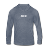 Tezos Unisex Tri-Blend Hooded Shirt - heather blue