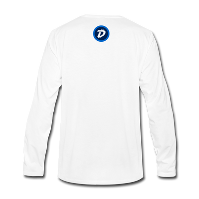 Digibyte Premium Long Sleeve - white