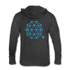 Qtum Unisex Tri-Blend Hooded Shirt - heather black