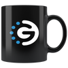 GoChain Coffee Mug -- All Black - Sticky Crypto
