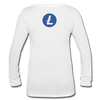 Litecoin Women's Long Sleeve  V-Neck - white
