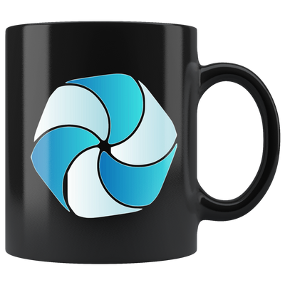 High Performance Blockchain Coffee Mug -- All Black - Sticky Crypto