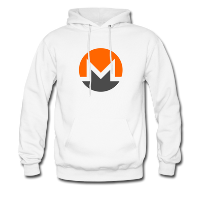 Monero Premium Hooded Pull-Over - white