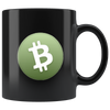 Bitcoin Cash Coffee Mug -- All Black - Sticky Crypto