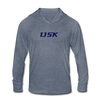 LISK Unisex Tri-Blend Hooded Shirt - heather blue