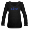 Litecoin Women's Long Sleeve  V-Neck - black