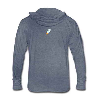 Stellar Lumens Unisex Tri-Blend Hoodie Shirt - heather blue
