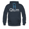 Qtum Premium Hooded Pull-Over Sweater - navy