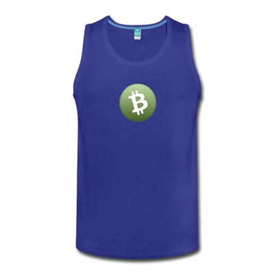 Bitcoin Cash Men's Premium Tank Top - royal blue