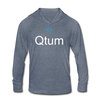 Qtum Unisex Tri-Blend Hooded Shirt - heather blue