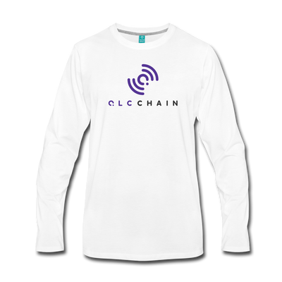 QLC Chain Premium Long Sleeve T-Shirt - white