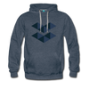 Elastos Premium Hoodie - heather denim