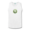 Bitcoin Cash Men's Premium Tank Top - white
