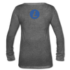 Litecoin Women's Long Sleeve  V-Neck - deep heather