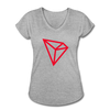 TRON Women's Tri-Blend V-Neck T-Shirt - heather gray