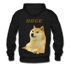 Dogecoin Premium Hooded Pull-Over Sweater - black