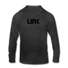 Chainlink Unisex Tri-Blend Hooded Shirt - heather black