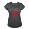 TRON Women's Tri-Blend V-Neck T-Shirt - deep heather