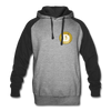 Dogecoin Colorblock Hooded Pull-Over Sweater - heather gray/black