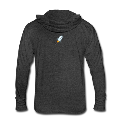 Stellar Lumens Unisex Tri-Blend Hoodie Shirt - heather black