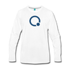 Qubitica Premium Long Sleeve T-Shirt - white