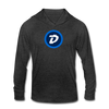 Digibyte Unisex Tri-Blend Hooded Shirt - heather black