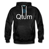 Qtum Premium Hooded Pull-Over Sweater - charcoal gray