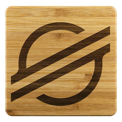 Exclusive Stellar Lumens Bamboo Coasters - Sticky Crypto