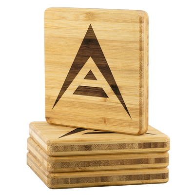 Exclusive ARK Bamboo Coasters - Sticky Crypto