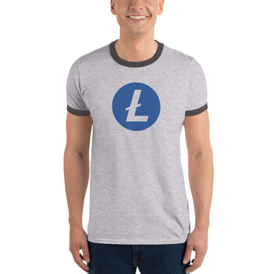 Litecoin Ringer Tee with Tear Away Label