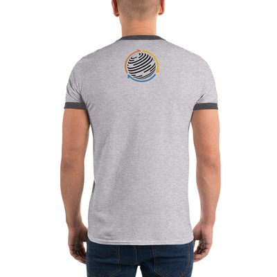 Factom Ringer Tee with Tear Away Label - Sticky Crypto