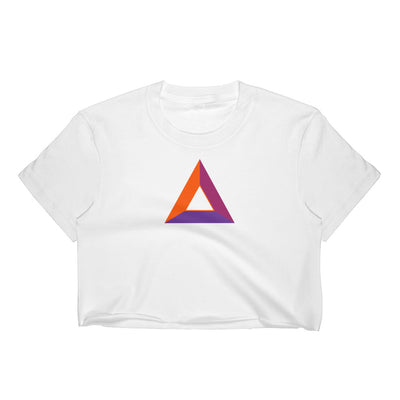 Basic Attention Token Fine Jersey Short Sleeve Cropped T-Shirt w/ Tear Away Label - Sticky Crypto
