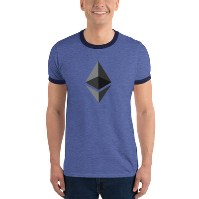 Ethereum Lightweight Ringer Tee with Tear Away Label - Sticky Crypto