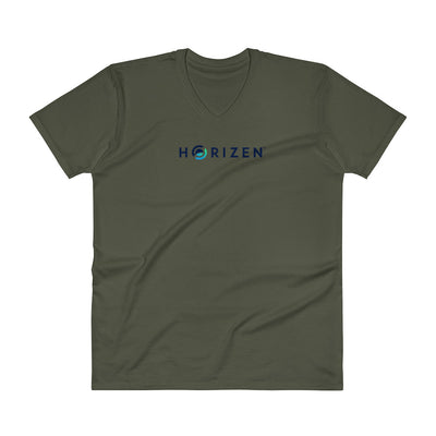 Horizen V-Neck T-Shirt - Sticky Crypto
