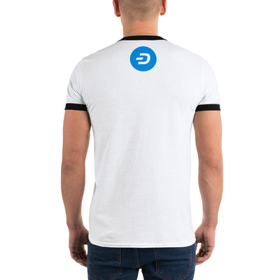DASH Ringer Tee with Tear Away Label - Sticky Crypto