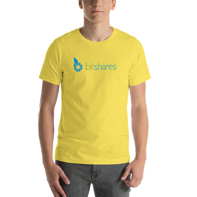 Bitshares Unisex Short Sleeve Jersey T-Shirt with Tear Away Label - Sticky Crypto