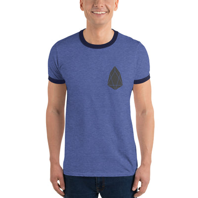 EOS Lightweight Ringer Tee with Tear Away Label - Sticky Crypto