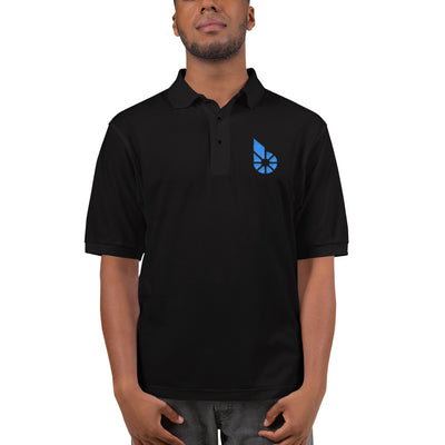 Bitshares Embroidered Polo Shirt - Sticky Crypto