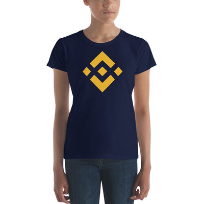 Binance Ladies Ringspun Fashion Fit T-Shirt with Tear Away Label - Sticky Crypto